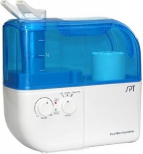 SPT SU-4010 Ultrasonic Dual-Mist WarmCool Humidifier with Ion Exchange Filter